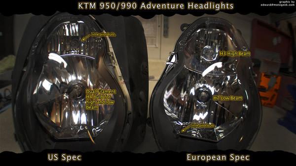 ktm adventure 990 wiring diagram help with tt fairing install us vs eu spec headlights ktm tail light wiring diagram