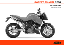 2006 990 Super Duke Owner's Manual