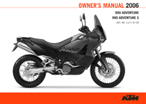 2006 990 Adventure Owner's Manual